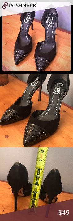 Sam Edelman Circus 6.5M 6 1/2 M black heels Mellie See photos for details and measurements light wear. As you can see from the bottom of the shoes they are in good shape. #2036 Circus by Sam Edelman Shoes Heels