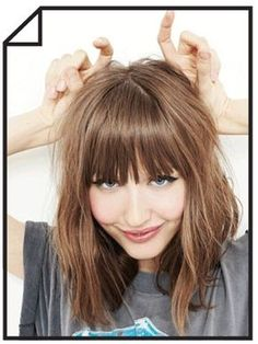 Vintage Hairstyles With Bangs Bang Trim - Straight across, wispy or side bangs. Short Hair Updo, Long Hair With Bangs, Haircuts For Long Hair, Long Hair Cuts, Hairstyles With Bangs, Trendy Hairstyles, Straight Hairstyles, Vintage Hairstyles, Hairstyle Ideas