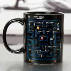 The Pac-Man Heat Change Mug from Paladone Products is a brilliant innovation that will soon get you addicted to drinking mugs of coffee or tea throughout Gifts For Gamer Boyfriend, Gamer Gifts, Pac Man, Funny Coffee Mugs, Funny Mugs, Coffee Cups, Tea Cups, Blue Coffee Mugs, Cute Mugs