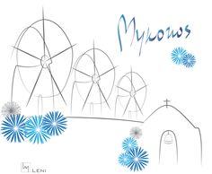 Mykonos vector