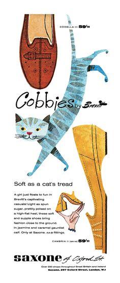 1957 Saxone — shoe ad – Cobbies by Brevitt