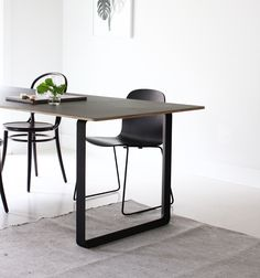 our new table Ghost Chairs Dining, Table And Chairs, A Table, Dining Tables, Dinner Table, Dining Rooms, Dining Room Inspiration, Furniture Inspiration, Black And White Dining Room
