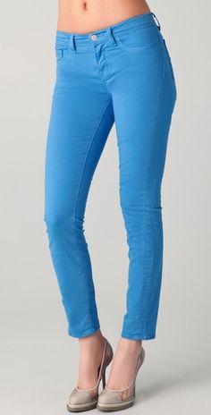 J Brand 811 Ankle Skinny Jeans in Blue Bonnet