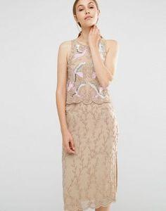 Платье-футляр 2-в-1 с вышивкой и отделкой бисером Frock and Frill
