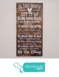 In This House We Do Disney Wooden Sign, Disney Sign, Shabby Chic Disney Quote Sign, We Do Disney, Home Decor, Children's Room Decor from Crafty Witches Decor http://smile.amazon.com/dp/B01BG57VSG/ref=hnd_sw_r_pi_dp_reW7wb1X8CENC #handmadeatamazon