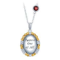 Enchanted Disney Diamond Mirror Locket  in Sterling Silver with Yellow... ($179) ❤ liked on Polyvore featuring jewelry, pendants, disney, white, heart shaped locket, sterling silver charms pendants, heart charm, diamond locket and sterling silver heart charm