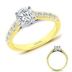 1.75 Ct. tw. Yellow Gold Trellis Engagement Setting with Round Diamond - http://www.wonderfulworldofjewelry.com/jewelry/accessories/175-ct-tw-yellow-gold-trellis-engagement-setting-with-round-diamond-com/ - Your First Choice for Jewelry and Jewellery Accessories
