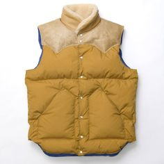 Warehouse and Rocky Mountain Featherbed (ウエアハウス x ロッキーマウンテン フェザーベッド) Leather Yoke Down Vest | james mcnally ($500-5000) - Svpply
