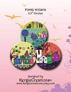 CASAS FUNKY 2.5 pulgadas Digital hoja de por KergieCreations