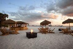Hilton Clearwater Beach's Tiki Bar on the beach.