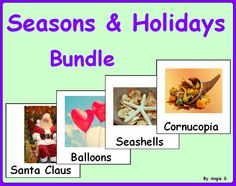 Seasons & Holidays Bundle-Autism and Special Needs Cards, for more resources follow https://www.pinterest.com/angelajuvic/autism-special-education-resources-angie-s-tpt-sto/