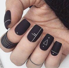 23 Cute Uniqorn Nail Art Designs For Kids 2019 - Nage .- 23 cute Uniqorn nail art designs for kids 2019 # 2019 # for - Matte Nails, Acrylic Nails, Coffin Nails, Black Nail Art, Matte Black, Mat Black Nails, Black Nails Short, Black Art, Black White