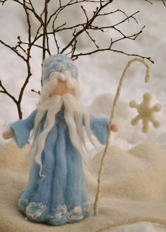 King Winter Waldorf inspired Needle felted Standing von MagicWool