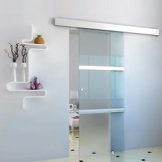Jago Sliding Glass Door 205 x cm x ft) Sliding Glass Door, Bedroom Divider, House Design, Interior, Home Remodeling, Dental Office Design, Glass Bathroom, Doors Interior, Glass Doors Interior