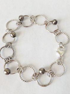 Handmade Sterling Silver Chain Bracelet Handmade by heartsabustin