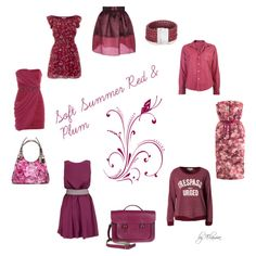 Soft Summer red and plum by sabira-amira
