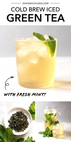 Find out how to make cold brew green tea using this easy guide from Oh, How Civilized. This green tea is so refreshing. This guide is sure to show you the perfect way to make iced tea! #mintgreentea #tearecipe #greentea #icedgreentea Green Tea Uses, Peach Green Tea, Peach Ice Tea, Matcha Green Tea, Green Teas, Green Tea Recipes, Iced Tea Recipes, Vodka Recipes, Tumeric Tea Recipe