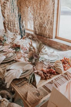 Gallery, description, and supplier list of a beautiful beach boho elopement at the Cherry Barn planned and styled by The Stars Inside. Bohemian Wedding Flowers, Boho Wedding Decorations, Flower Crown Wedding, Wedding Centerpieces, Floral Wedding, Table Decorations, Flower Crowns, Best Wedding Blogs, Aztec Decor