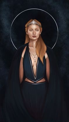 So I went back and reworked Feyre's portrait a bit to match the composition of Mor's and Amren's since I realized she needed to look more regal in comparison. Also added a cool cloak and made her dress a bit more interesting. Enjoy!