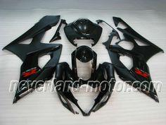 SUZUKI GSX-R 1000 2005-2006 K5 ABS Fairing - Black #2005suzukigsxr1000fairings #05gsxr1000fairings