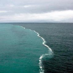 Two Oceans meeting at the Gulf of Alaska…but not completely merging…