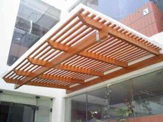 Roof Design, House Design, Canopy Outdoor, Outdoor Decor, Wood Bar Stools, Backyard Privacy, Modern Pergola, Covered Decks, Pergola Shade
