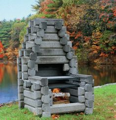 1000 images about fireplaces fire pit 39 s on pinterest for Precast concrete outdoor fireplace kits