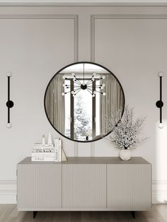 Sideboard Decor, Modern Cabinets, Apartment Interior Design, Home And Deco, Luxurious Bedrooms, My New Room, Luxury Interior, Interiores Design, Furniture Design