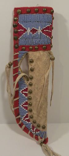 Native American Sioux Beaded Knife Sheath