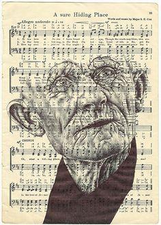 'we all wear a mask' Bic biro drawing by mark powell, via Behance Biro Drawing, Advanced Higher Art, A Level Art Sketchbook, Sheet Music Art, Identity Art, Art, Music Art, Portrait Art, Art Portfolio