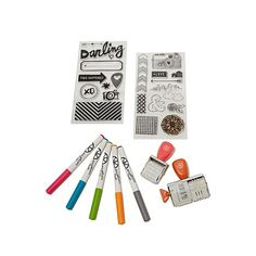 Amy Tangerine Stamp and Marker Set