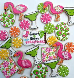 Margarita decorated cookies by Vicki's Sweets, via Flickr