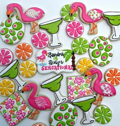 Margarita decorated cookies by Vicki's Sweets, via Flickr