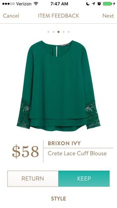 I already have a green blouse but would like this style in a different color. Maybe blue or red?