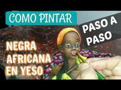Como pintar cerámica con técnica de pincel seco Elefante Indu - YouTube African Dolls, U Tube, Mona Lisa, Bottles, Miniatures, Painting, Drybrush, Colorful Elephant, Plaster Crafts