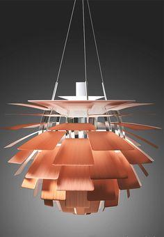 PH Artichoke Lamp in Copper