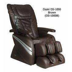 Osaki Model Deluxe Massage Chair, Brown, 5 Easy to Use - 5 Easy to Use Preset Auto Program; Delivers a powerful and realistic full 4 Massage Types: Kneading - Freedom Furniture, Shoulder Massage, Chair Mats, Massage Chair, Neck Massage, Full Body, Rollers, Model, Target