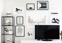 How to hang a gallery wall (even with a TV!)