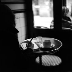 pictureshavewordstoo:  Inspiration comes through a cafe window.