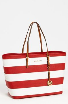 Yes to this travel tote: MICHAEL Michael Kors Jet Set- love me some stripes