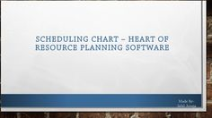 #Resourceplanningsoftware gives facility of scheduling chart where resources are scheduled and booked as per the requirements.