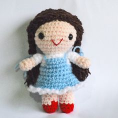 Amigurumi Dorothy from The Wizard of Oz by Yillup, via Flickr