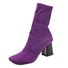 ENMAYERパープルハイヒールの革の靴と厚い女の子のブーツマーティンブーツ裸ブーツラウンド毛皮のブーツを回しまし... https://www.amazon.co.jp/dp/B01MD0N97N/ref=cm_sw_r_pi_dp_x_i9oqyb7M3P44Q