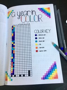 Mood tracker for daily emotions in my Bullet Journal! Great to look back on and see that between the small rough patches are amazing days all bunched together