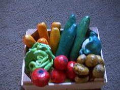 Kaufladen - Obst, Gemüse und Backwaren aus Salzteig