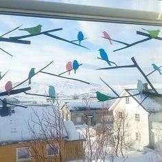#påtide å bytte ut snøfnugga i vinduene med noe vårpynt. Men her i #Finnmark varer jo ... | Use Instagram online! Websta is the Best Instagram Web Viewer!
