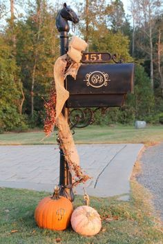 fall decorating ideas, crafts, seasonal holiday decor, wreaths, Inspired by this mailbox decor from Southern Soul Mates Thanksgiving Decorations, Seasonal Decor, Halloween Decorations, Thanksgiving Ideas, Holiday Ideas, Holiday Fun, Fall Home Decor, Autumn Home, Center Pieces