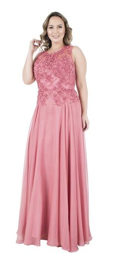 Long Plus Size Dresses Cap Sleeve Lace Applique Chiffon Formal Evening Gown Prom Dresses Online, Modest Dresses, Plus Size Dresses, Bridesmaid Dresses, Formal Dresses, Short Dresses, A Line Evening Dress, Long Evening Gowns, Flattering Outfits