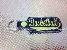 Basketball - In The Hoop - Snap/Rivet Key Fob - DIGITAL EMBROIDERY DESIGN