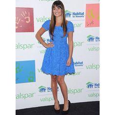 Lea Michele for Valsapr and Habitat for Humanity Via @adoringlittlegleeks